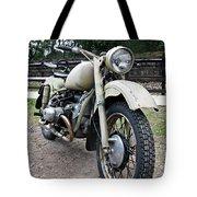 Vintage Military Motorcycle Tote Bag