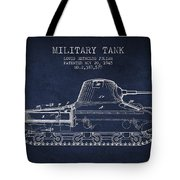 Vintage Military Tank Patent From 1945 Tote Bag