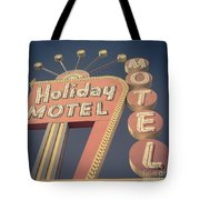 Vintage Motel Sign Holiday Motel Square Tote Bag