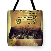 Vintage Mr. Butt Snuffer Ashtray Tote Bag