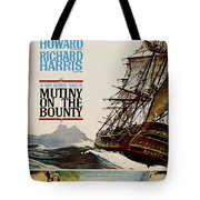 Vintage Mutiny On The Bounty Movie Poster 1962 Tote Bag
