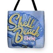 Vintage Neon- Shell Beach Inn Tote Bag