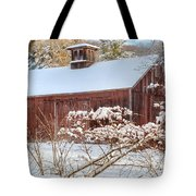 Vintage New England Barn Tote Bag by Bill Wakeley
