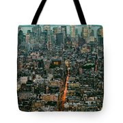 Vintage New York Skyline Tote Bag