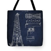 Vintage Oil Drilling Rig Patent From 1916 Tote Bag