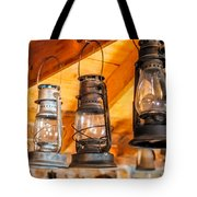 Vintage Oil Lanterns Tote Bag by Paul Freidlund