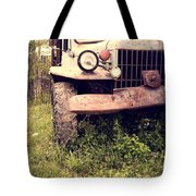 Vintage Old Dodge Work Truck Tote Bag by Edward Fielding