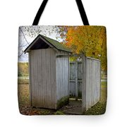 Vintage Outhouse Alongside A Historical Country School In Southwest Michigan Tote Bag