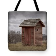 Vintage Outhouse Behind A Historical Country School In Southwest Michigan Tote Bag