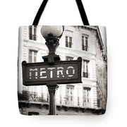 Vintage Paris Metro Tote Bag by John Rizzuto