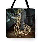Vintage Pearls And Shoes Tote Bag