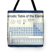 Vintage Periodic Table Of The Elements Tote Bag by Dan Sproul