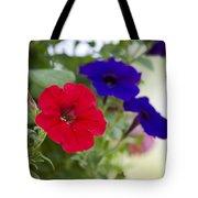 Vintage Petunia Flowers Tote Bag