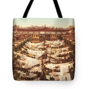 Vintage Photo Of Washing Day In New York City 1900 Tote Bag