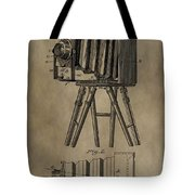 Vintage Photographic Camera Patent Tote Bag