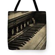 Vintage Piano Tote Bag