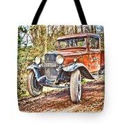 Vintage Pickup Truck Tote Bag