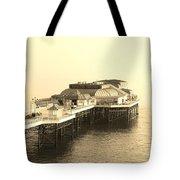 Vintage Pier At Dawn Tote Bag