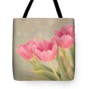 Vintage Pink Tulips Tote Bag by Kim Hojnacki