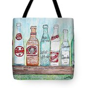 Vintage Pop Bottles Tote Bag