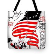 Vintage Poster - America - Flag Day 1917 Tote Bag by Benjamin Yeager