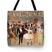 Vintage Poster Fanny Rice At The French Ball Tote Bag