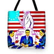 Vintage Poster - Read Up Tote Bag by Benjamin Yeager
