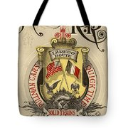 Vintage Train Ad 1897 Tote Bag