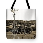 Vintage Ranch Windmill Tote Bag