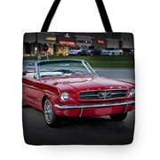 Vintage Red 1966 Ford Mustang V8 Convertible  E48 Tote Bag