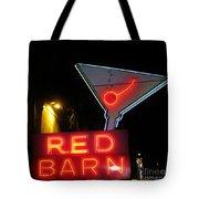 Vintage Red Barn Neon Sign Las Vegas Tote Bag