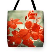Vintage Red Flowers Tote Bag