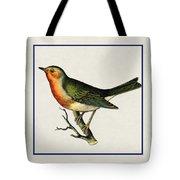 Vintage Robin Square Tote Bag