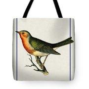 Vintage Robin Vertical Tote Bag