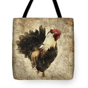 Vintage Rooster Tote Bag