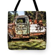 Vintage Rusty Old Truck 1940 Tote Bag