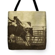 Vintage Saddle Bronc Riding Tote Bag