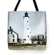 Vintage Sandy Hook Lighthouse Tote Bag