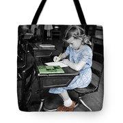 Vintage Schoolgirl Tote Bag