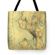 Vintage Seattle Map Tote Bag