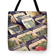 Vintage Seed Packages Tote Bag by Edward Fielding