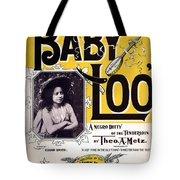 Vintage Sheet Music Cover  Circa 1898 Tote Bag