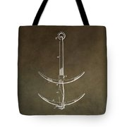Vintage Ship's Anchor Patent Tote Bag