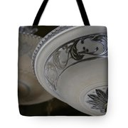 Vintage Silver And Glass Lighting Fixture Tote Bag