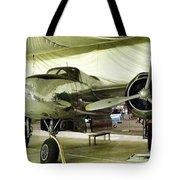 Vintage Silver Bomber Airplane Tote Bag