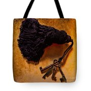 Vintage Skeleton Keys Tassled Gold Tote Bag