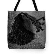 Vintage Skeleton Keys_tassled Bw Tote Bag