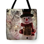 Vintage Snowman Tote Bag