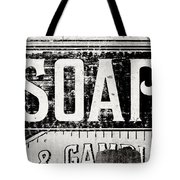 Vintage Soap Crate In Black And White Tote Bag