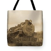 Vintage Steam Locomotive Tote Bag